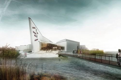ARKITEKTUR: Kunstens Ø. Skitse: Møller og Grønborg