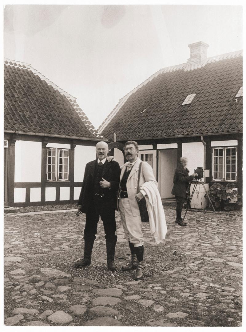 Michael Ancher og P.S. Krøyer. Fotograf ukendt, Center for kort og billeder, Det Kongelige Bibliotek. Foto Det Kongelige Bibliotek