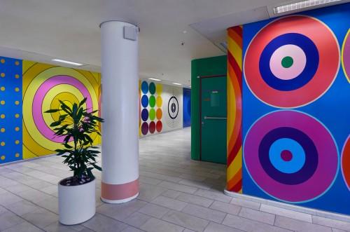 Poul Gernes, Herlev Hospital, detalje fra forhallen. Foto: Torben Petersen