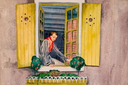 Einar Wegener, Kvinde i vinduet, før 1931. Foto: Vejlemuseerne - Kunstmuseet.