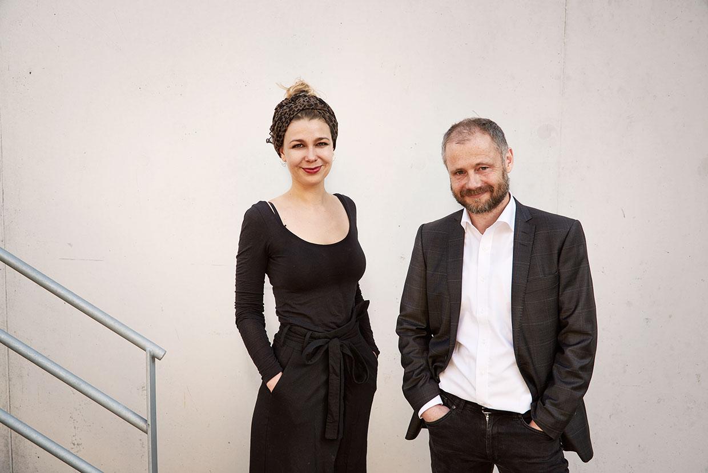 Astrid Myntekær og Peter Callesen, modtagere af ARKENs Rejselegater 2016. Foto: Henrik Jauert