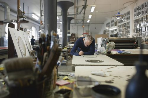 Den belgiske billedkunstner Luc Tuymans hos Edition Copenhagen. Foto: Lars Gundersen