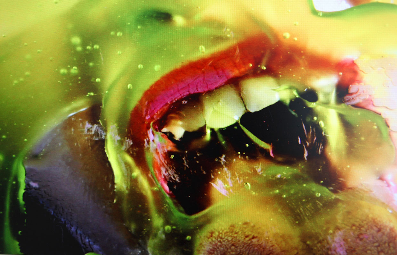 Marilyn Minter, Green Pink Caviar, 2009. Video still. Louisiana Museum of Modern Art