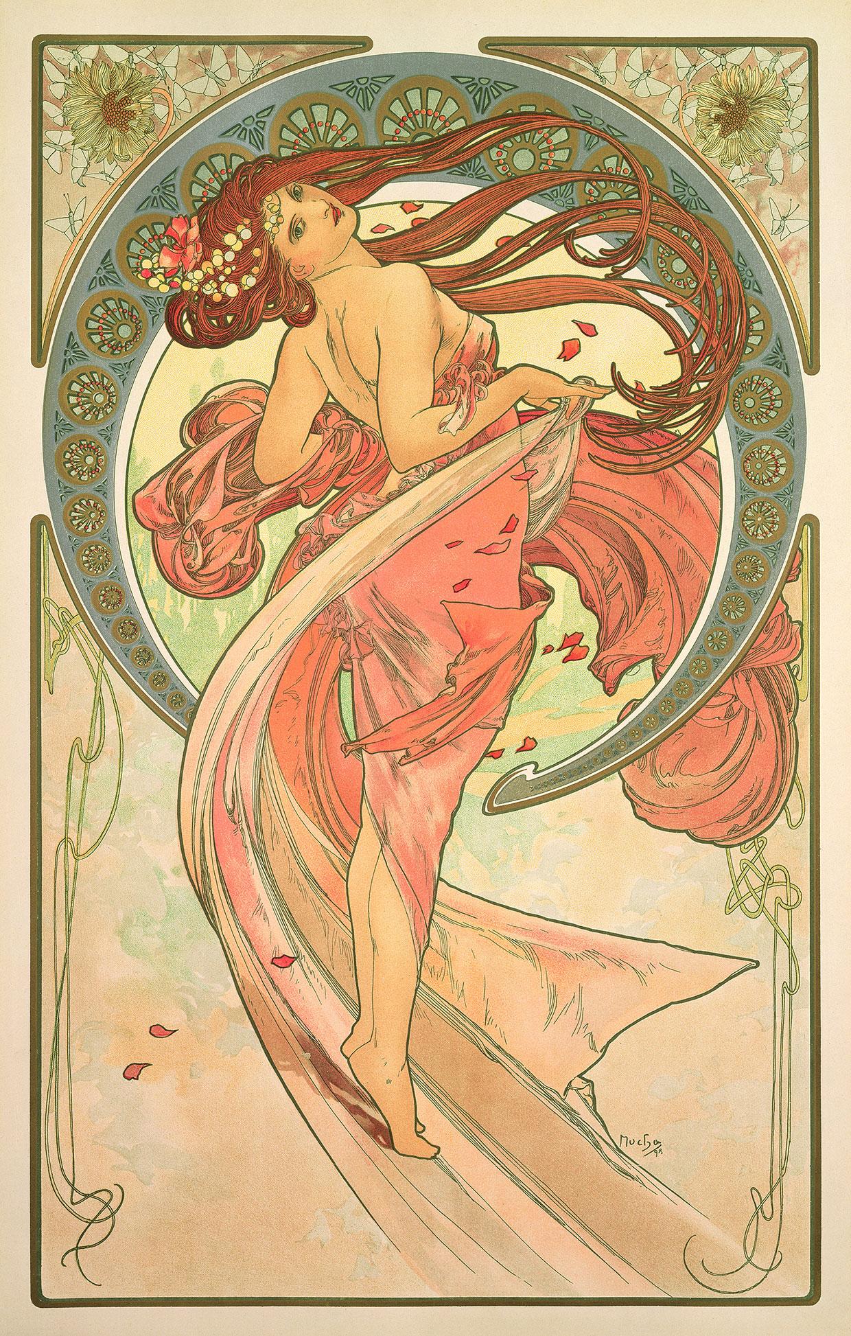 Alphonse Mucha, Kunsten: Dans, 1898 © Mucha Trust 2018