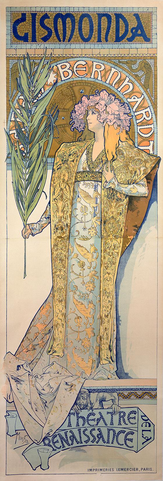 Alphonse Mucha, Plakat til Gismonda, 1894 © Mucha Trust 2018