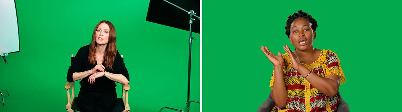 Candice Breitz, Stills fra Love Story, 2016. Med Julianne Moore og Alec Baldwin. Interviewet: Mamy Maloba Langa. Courtesy Goodman Gallery, Kaufmann Repetto og KOW