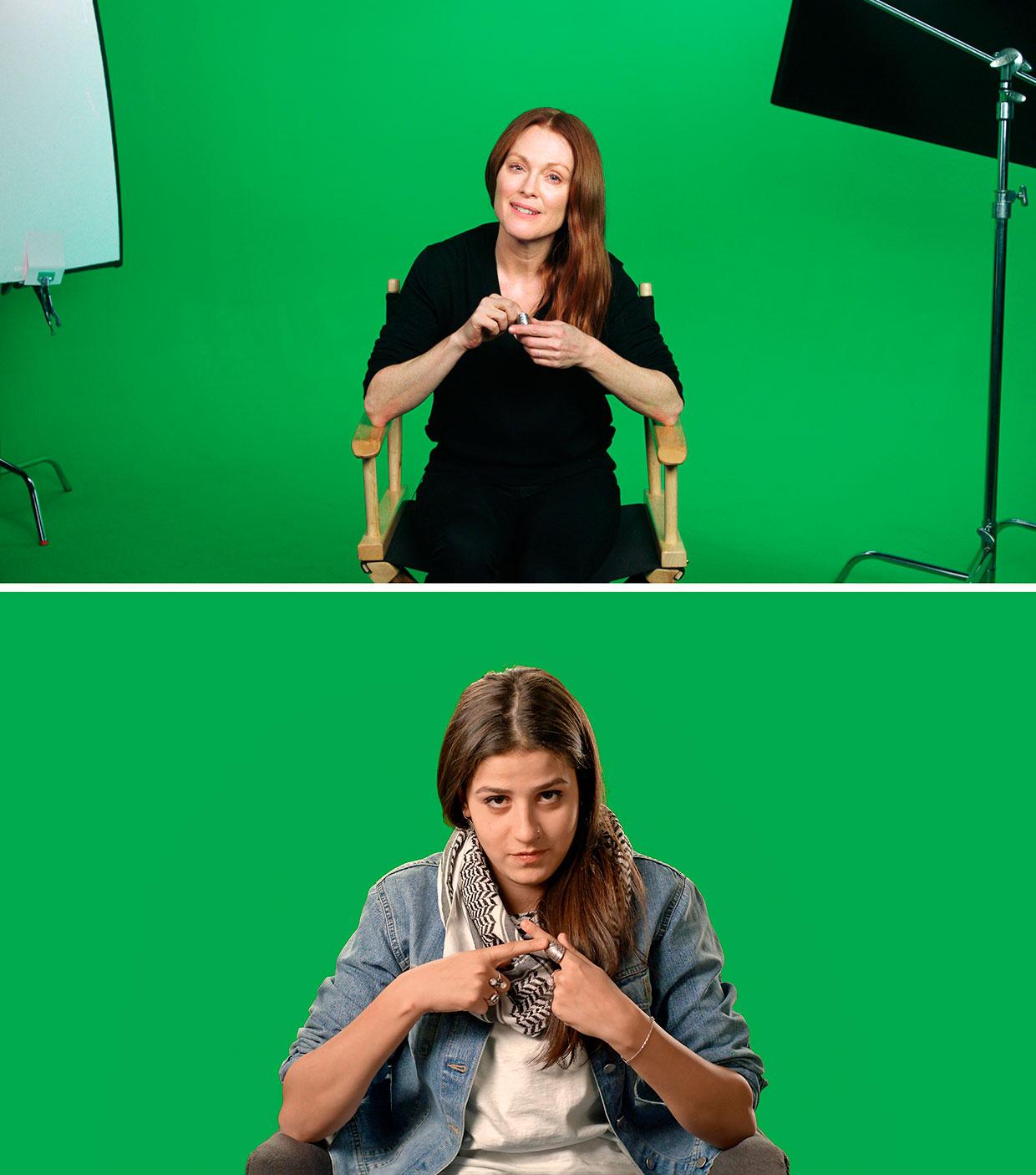 Candice Breitz, Stills fra Love Story, 2016. Med Julianne Moore og Alec Baldwin. Interviewet: Sarah Ezzat Mardini. Courtesy Goodman Gallery, Kaufmann Repetto og KOW